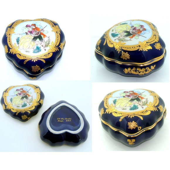 limoges Other - Limoges heart box antique wedding china